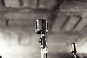 Black and White Vintage Microphone