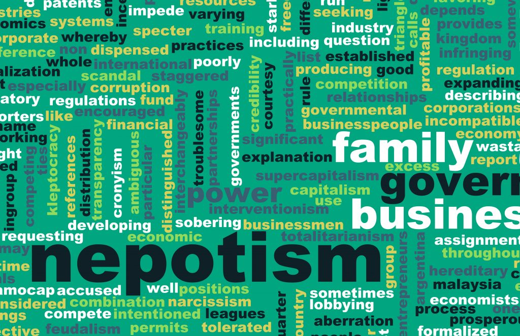 Green Nepotism Word Cloud