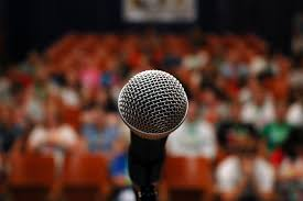 Public Speaking with Microphone