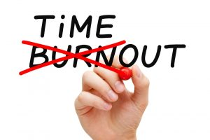 take timeout to avoid burnout