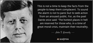 Values quote by JFK