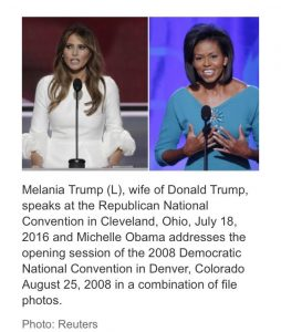 Melania Trump accused of plagiarism