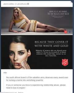 Domestic violence campaign by Salvation Army