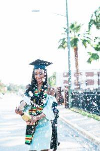 Degree earned celebration had (black woman)