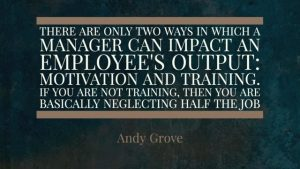 training is half the job of management