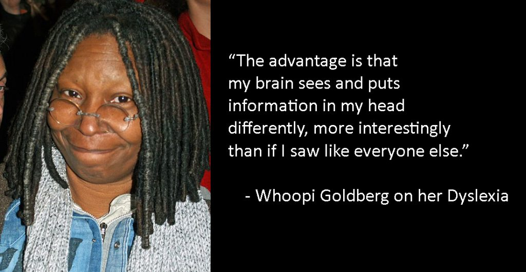 whoopi goldberg on neurodiversity (dyslexia)