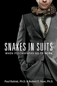 corporate psychopaths are like snakes in suits