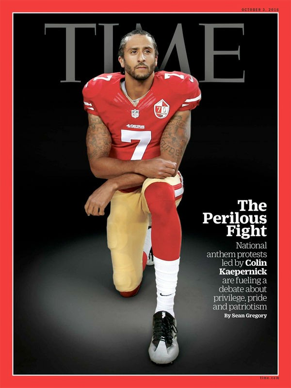 Colin Kaepernick takes a knee to protest police brutality fueled by racism