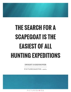 Corporate scapegoats and sacrificial lambs - what to do if