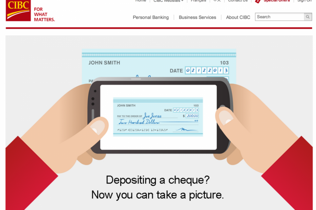 one example of automation is e-deposit from CIBC
