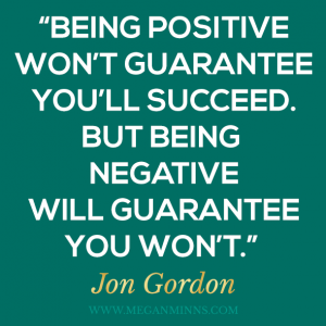 a positive attitude helps you succeed