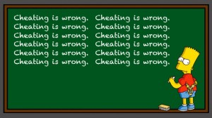 cheating is wrong - the Simpsons