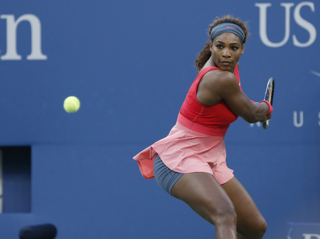 serena williams playing amazing tennis during high stake US Open match