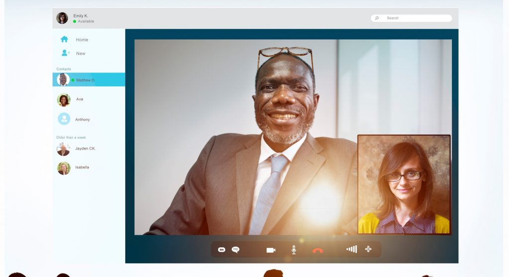 leading from home via video