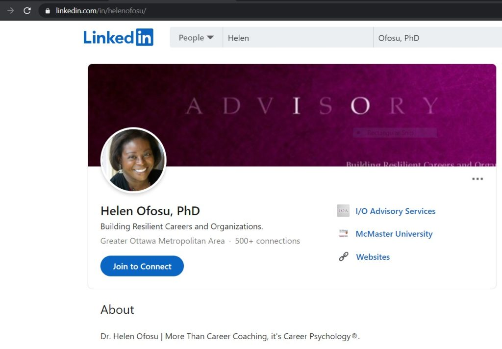 Dr Helen Ofosu, Work and Business Psychologist on LinkedIn