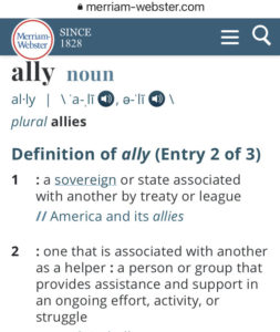 merriam-webster definition of ally