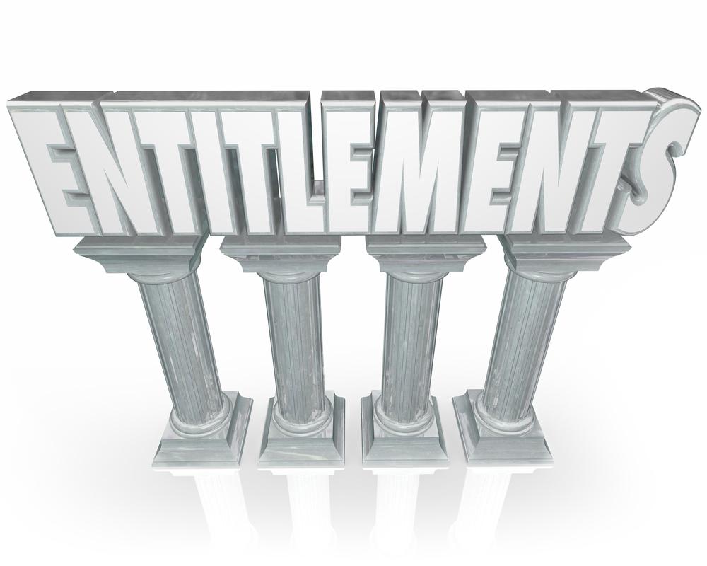 Entitlement statue or pillar